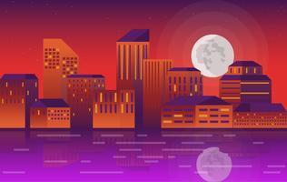 Vector stad landschap illustratie