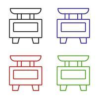 keukenweegschaal pictogram op de achtergrond vector