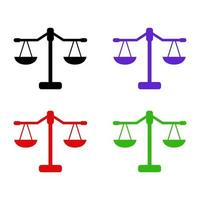 gewicht schaal pictogram op de achtergrond vector