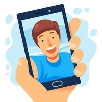 Selfie Illustratie vector
