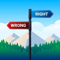 Richtingsteken wijzend tegenover richtingen illustratie