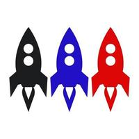 raket pictogram op de achtergrond vector