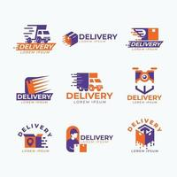 set van levering express-logo vector
