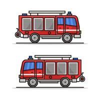 brandweerwagen pictogram op witte achtergrond vector
