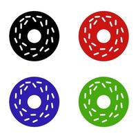 donut pictogram op witte achtergrond vector