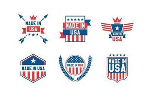 gemaakt in de VS logo sjabloon vector