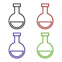 laboratorium kolf pictogram op witte achtergrond vector