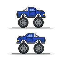 monster auto pictogram op achtergrond vector