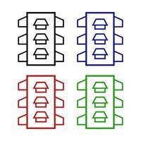verkeerslichtpictogram op witte achtergrond vector