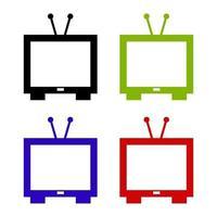 televisie pictogram op witte achtergrond vector