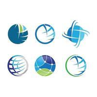 wereldwijde logo tech vectorillustratie pictogram vector