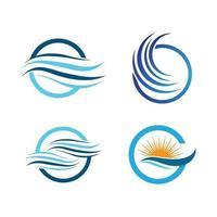 water wave logo afbeeldingen vector