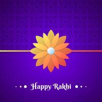 Mooie traditionele Rakhi bloemenontwerp versierde achtergrond vector