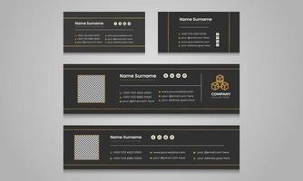 professionele sjablonen voor multifunctionele e-mailhandtekeningen. vector