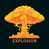 Nucleaire explosie vector