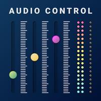UI Analoog volume Equalizer Level Mixer knopelement vector