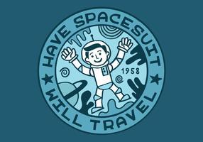 ruimte verdienste badge voor de mens