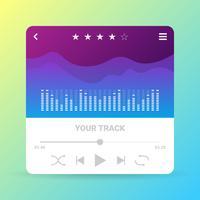 UI Muziek Configuratiescherm vector