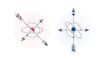 kompas tattoo vector