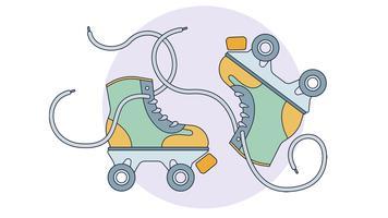 derby skates vector