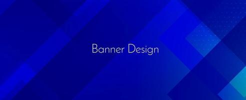 abstracte geometrische blauwe decoratieve moderne banner ontwerp achtergrond vector