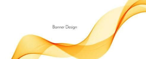 abstracte moderne dynamische stijlvolle rode en gele decoratieve patroon golf banner achtergrond vector