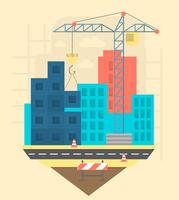 Platte constructie illustratie vector