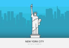 vrijheidsbeeld, het pictogram van het oriëntatiepunt van Amerika
