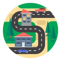 Landschap in de voorsteden vector