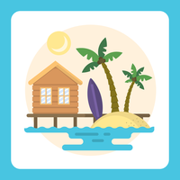 Strandlandschap vector