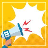 Megafoon illustratie vector