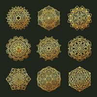 set geometrische mandala's vector