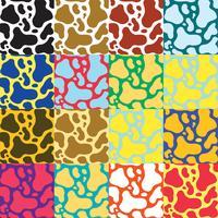 Kleurrijke koe Print Vector Pack