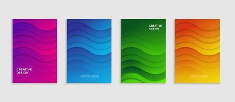 boekomslag ontwerp. abstract boek voorbladsjabloon voor zakelijke vector. vector