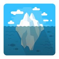 Drijvende ijsberg vector