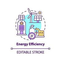 energie-efficiëntie concept pictogram vector