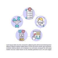 slimme regels toevoegen aan conceptlijnpictogrammen van e-mails met tekst vector