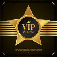 VIP-paskaartontwerp vector