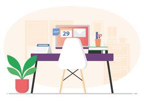 Vector kantoor kamer illustratie
