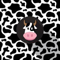 Koe afdrukken achtergrond vector