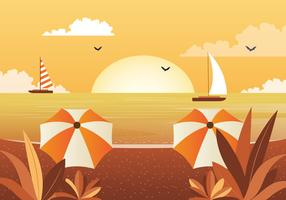 Vector mooie zeegezicht illustratie