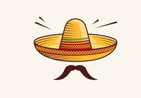 Sombrero vectorillustratie vector