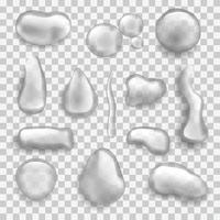 set van verschillende waterdruppels vector