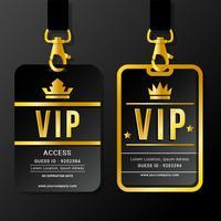 VIP Pass Lanyards en Clasps vector