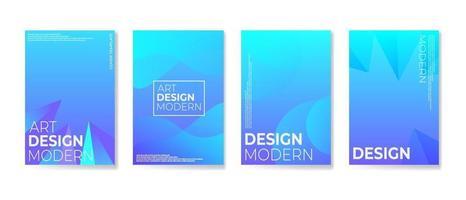 set van moderne abstracte achtergrond met zachte kleurverloop vector