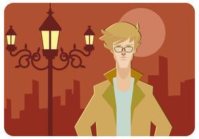 Cool Hipster Mannen Vector