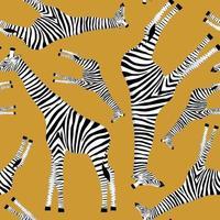 gouden achtergrond met giraffen die zebra's willen zijn vector