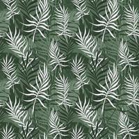 groene achtergrond met palm- en monsterabladeren vector