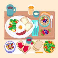 Vector ontbijt illustratie