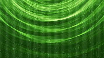 spiraal groen licht technologie achtergrond vector